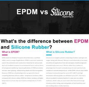EPDM vs Silicone rubber