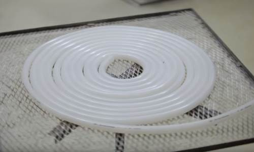 Silicone solid extrusions tile