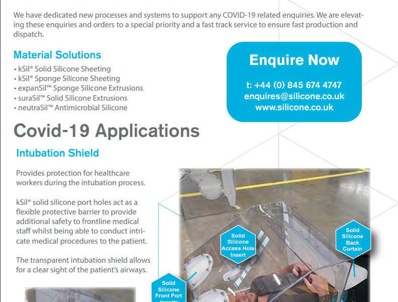 COVID-19 Application Flyer - Intubation Shield